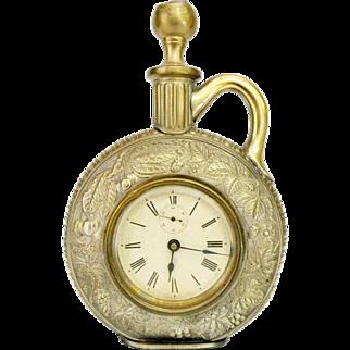 Antique Ansonia Jug Novelty Clock, Brass, c.1886