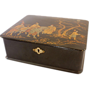 Chinese Black Lacquer Box, 19th Century