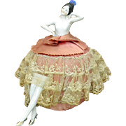 Pin Cushion Doll, Porcelain, Germany, 1920-1930s