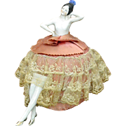 Pin Cushion Doll, Porcelain, Germany, 1920-1930s - Red Tag Sale Item