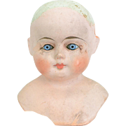 Papier Mache Shoulder Head Doll