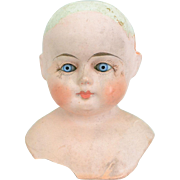 Papier Mache Shoulder Head Doll