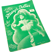 Mary's Dollies Pattern Book Volume No. 5 - 1941