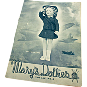Mary's Dollies Pattern Book Volume No. 6 - 1943