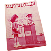 Mary's Dollies Pattern Book Volume No. 10 - 1946