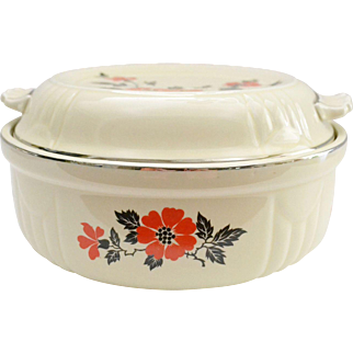 Hall Covered Casserole Dish, Red Poppy
