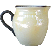 Czechoslovakian Luster Ivory and Black Pitcher or Creamer, #8
