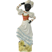Gebruder Knoch Bisque Black Americana Woman Figurine