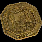 WWII Bastogne NUTS Plaque, Bronze