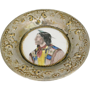 O'Hara Dial Co. Native American Tray, Waltham Massachusetts