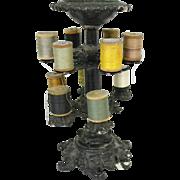Victorian Era Cast Iron Revolving Thread Spool Holder