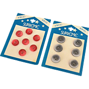 Supreme Buttons on Original Cards, mid-century