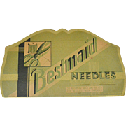 Bestmaid Sewing Needle Book, mid-century
