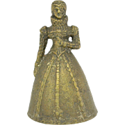 Brass Figural Lady Bell with Leg Clappers