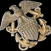 WWII Women's Civil Defense Corp Badge, Sterling Silver, Nurse Cadet
