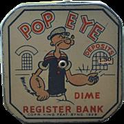 Popeye Dime Register Bank