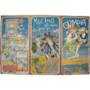 "1897 French Art Nouveau Music Program ""Olympia"""