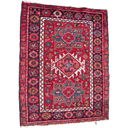 c1950s Karaja Persian Rug 3' x 4'