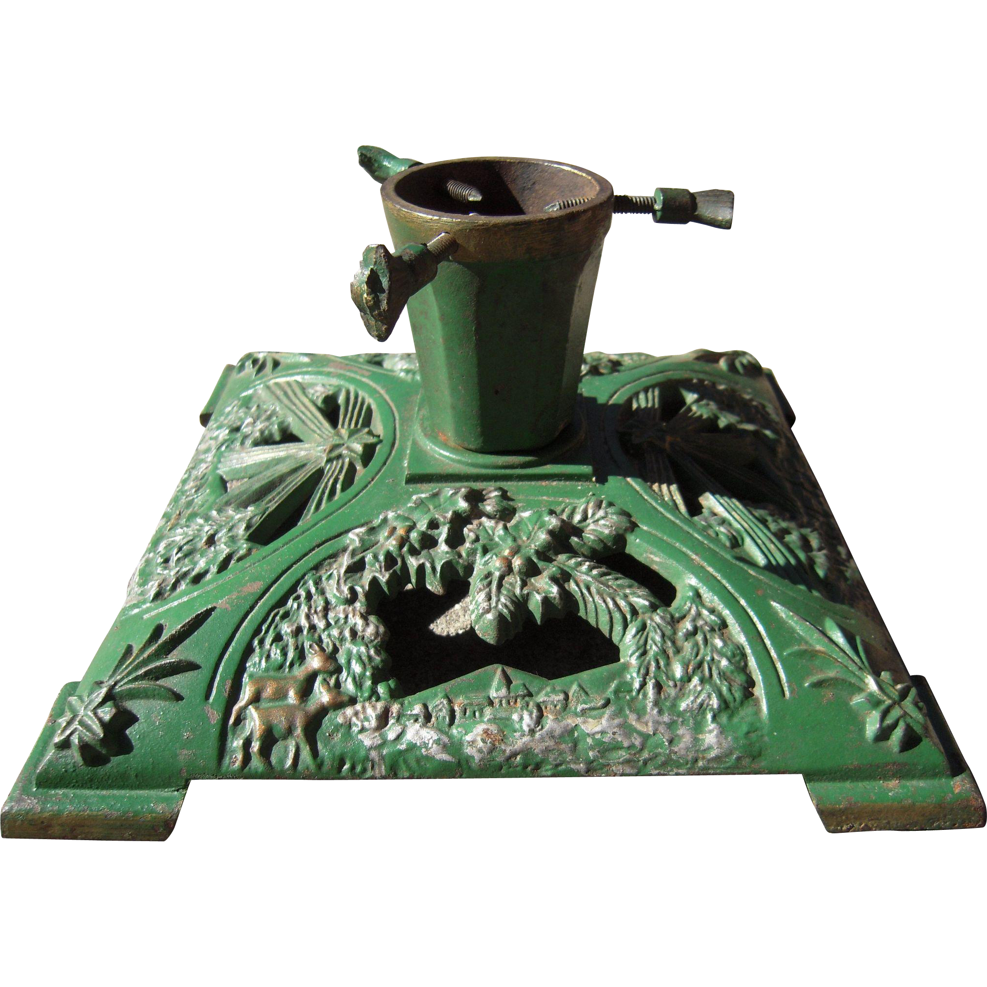 C1930s Cast Iron Christmas Tree Stand From