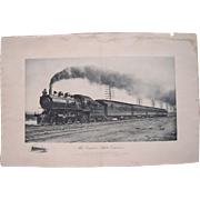 "c1900 Large Photogravure ""The Empire State Express"""