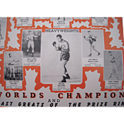 Large 1940s Boxing Poster