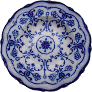 "c1890s Flow Blue Soup Plate ""Conway"""