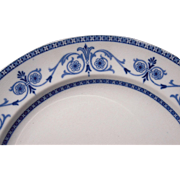 "c1910 Flow Blue China Dinner Plate ""Leighton"" 2 Available"