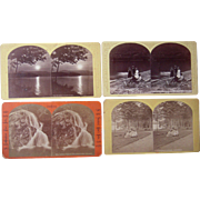 Lot of 4 Stoddard Lake George, NY Stereoviews