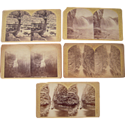 Lot of 5 Ausable Chasm, NY Stereoviews by Stoddard
