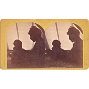 Stereoview Silhouette of Stoddard and Son