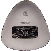 Unusual Vintage Triangular Masonic Plate