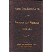1902 First Aid Book for Horse,Dog,Birds,Cattle - Red Tag Sale Item