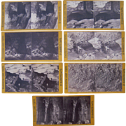 Lot of 7 1866 Mammoth Cave, KY Stereoviews