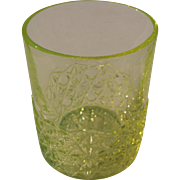 c1900s/1910s Yellow Vaseline Glass Tumbler