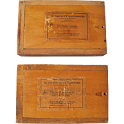 Pair Vintage Gannett Newspapers Type Boxes