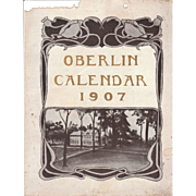1907 Calendar of Oberlin College, Ohio