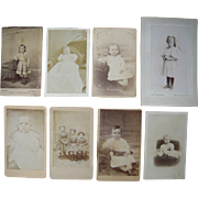 Lot of 8 1860s CDV Photos of Children Plus I small CDV Sized Photo