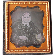 c1850s Sixth Plate Daguerreotype of Woman