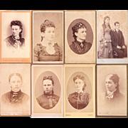 Lot of 9 CDV Photos of Women incl a Couple