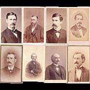 Lot of 9 1880s CDV Photos of Men