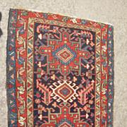 c1925 Vintage Karaja Persian Rug 3' x 4'
