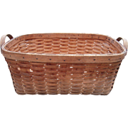 c1900 Large Antique Splint Basket from Upstate NY #1