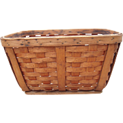 c1900 Large Antique Splint Basket from Upstate, NY #2