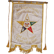 Large Mid 20th Century Order of Eastern Star Banner
