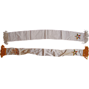 Pair of Vintage Order of the Eastern Star Sashes