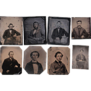 Lot of 10 Tintypes of Men