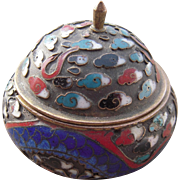 Early 1900s Footed Cloisonne Salt