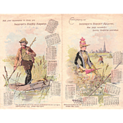 1889 Advertising Calendar DeMorest's Magazine