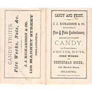 Victorian Era J.J. Richardson Candy Price List Booklet