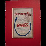 c1910 Matted Coca Cola Magazine Advertisement #2